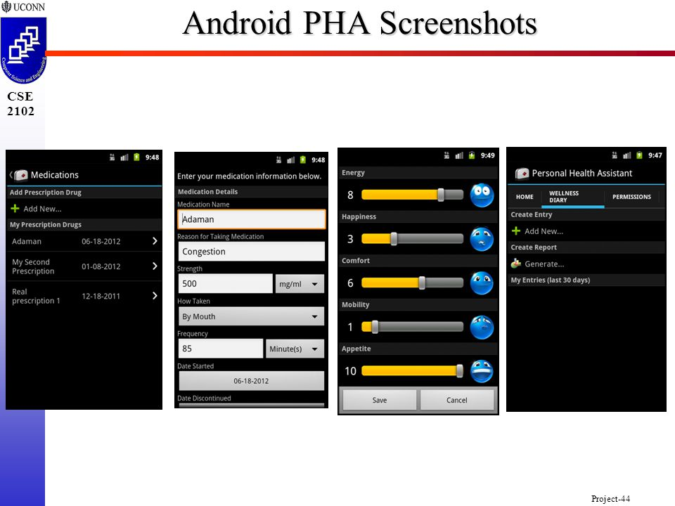 Project-44 CSE 2102 Android PHA Screenshots