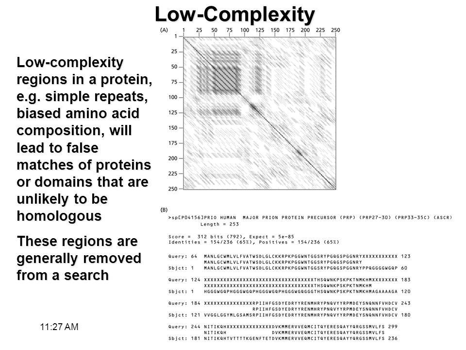 Low-Complexity Low-complexity regions in a protein, e.g.