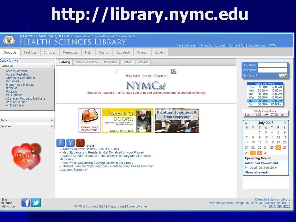 http://library.nymc.edu