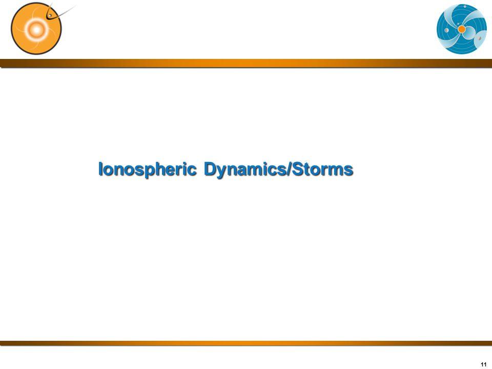 11 Ionospheric Dynamics/Storms