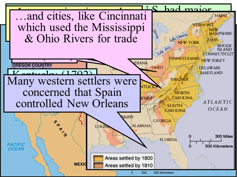 The Louisiana Purchase & the Lewis & Clark Expedition Left St.