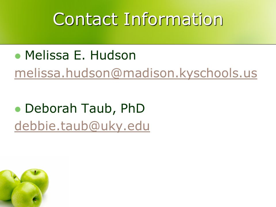 Contact Information Melissa E.