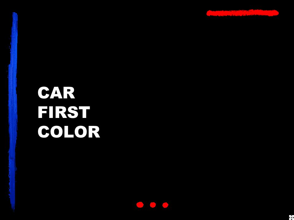 CAR FIRST COLOR