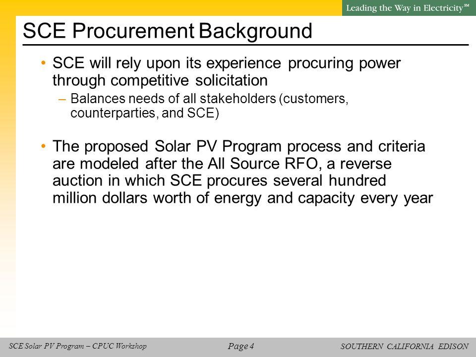 SOUTHERN CALIFORNIA EDISON SM Page 35 SCE Solar PV Program – CPUC Workshop Check In -- Discussion