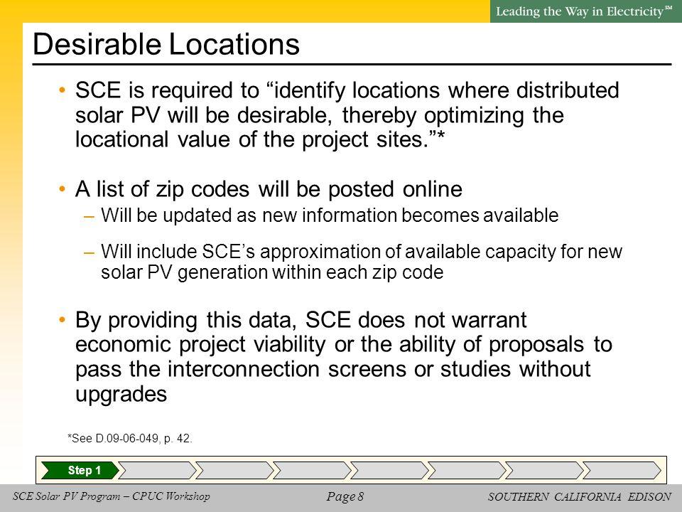SOUTHERN CALIFORNIA EDISON SM Page 39 SCE Solar PV Program – CPUC Workshop Check In -- Discussion