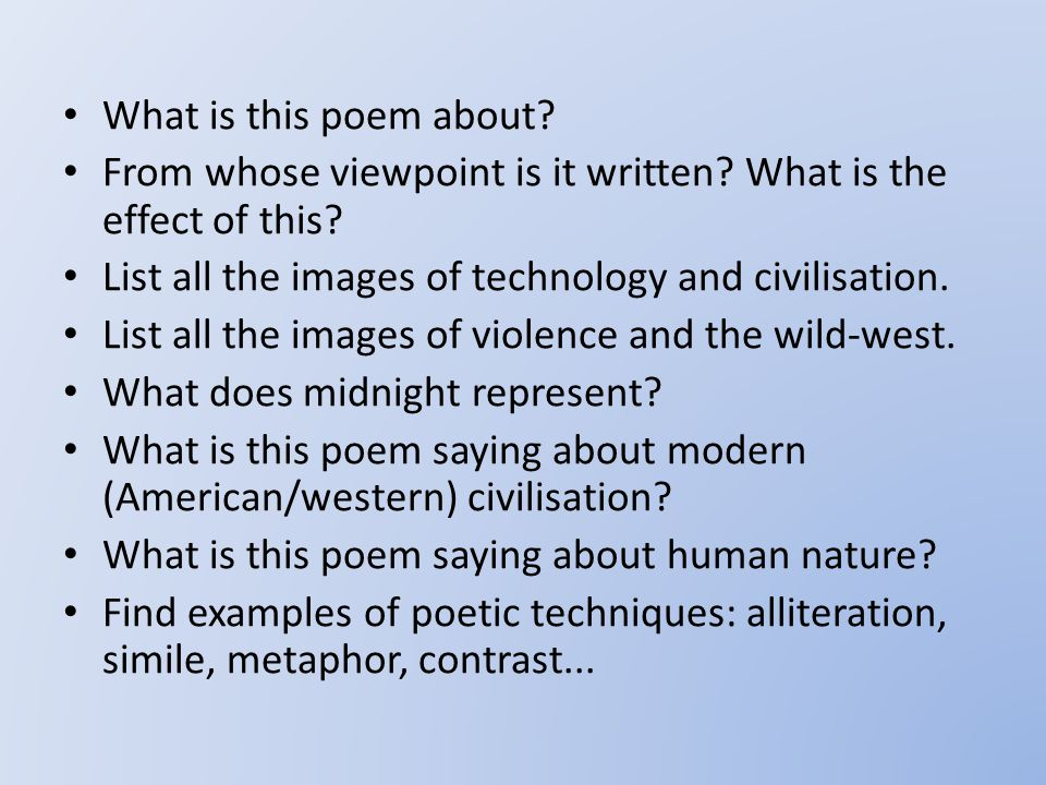 What is this poem about.From whose viewpoint is it written.