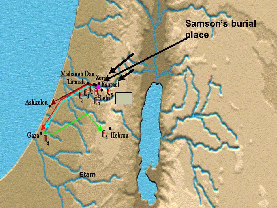 Etam Samson's burial place