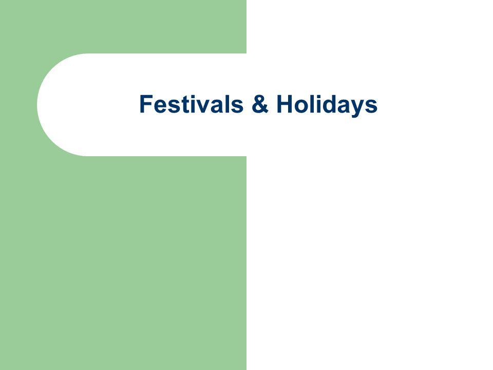 Festivals & Holidays