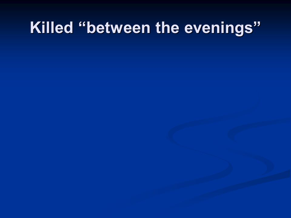 "Killed ""between the evenings"""
