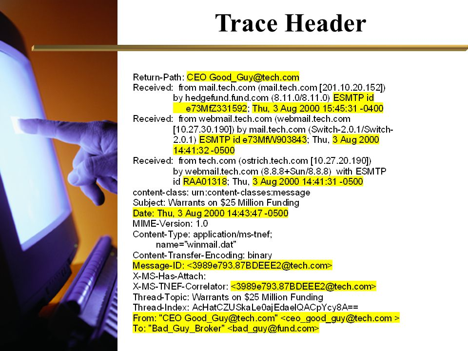 Trace Header