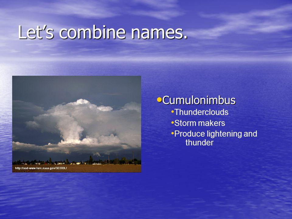 Let's combine names.