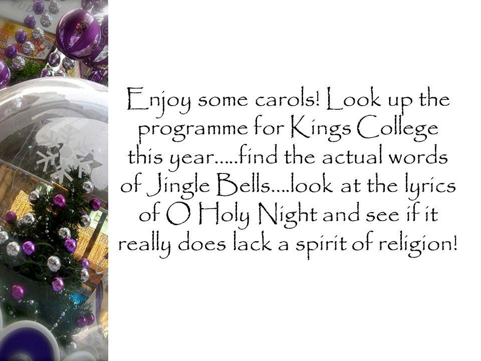 Enjoy some carols.