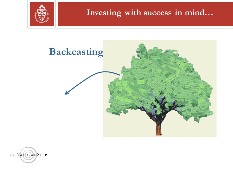 Copyright © 2004 The Natural Step Investing with success in mind… Backcasting