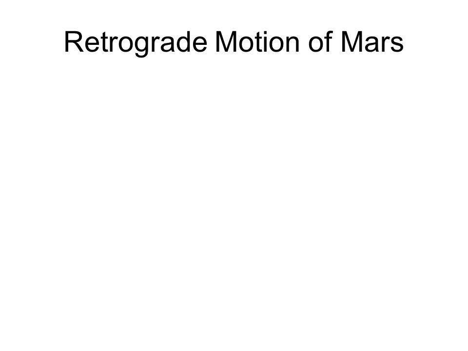 Retrograde Motion of Mars