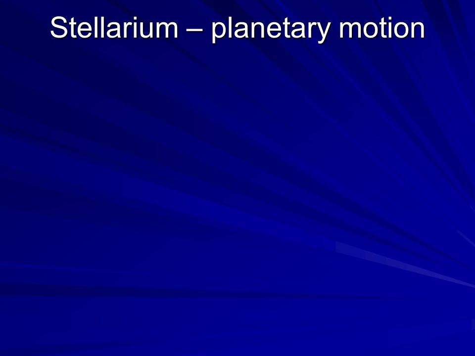 Stellarium – planetary motion