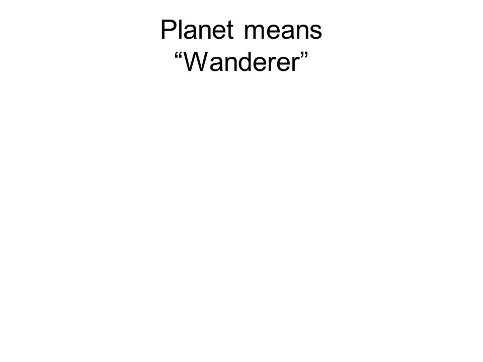 Planet means Wanderer