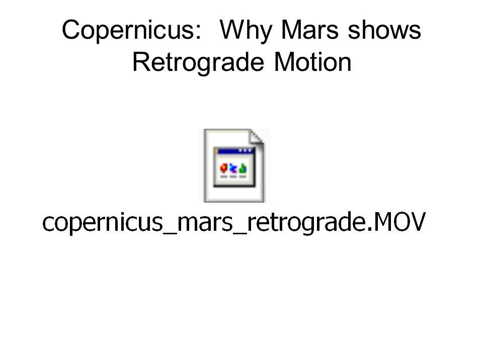 Copernicus: Why Mars shows Retrograde Motion