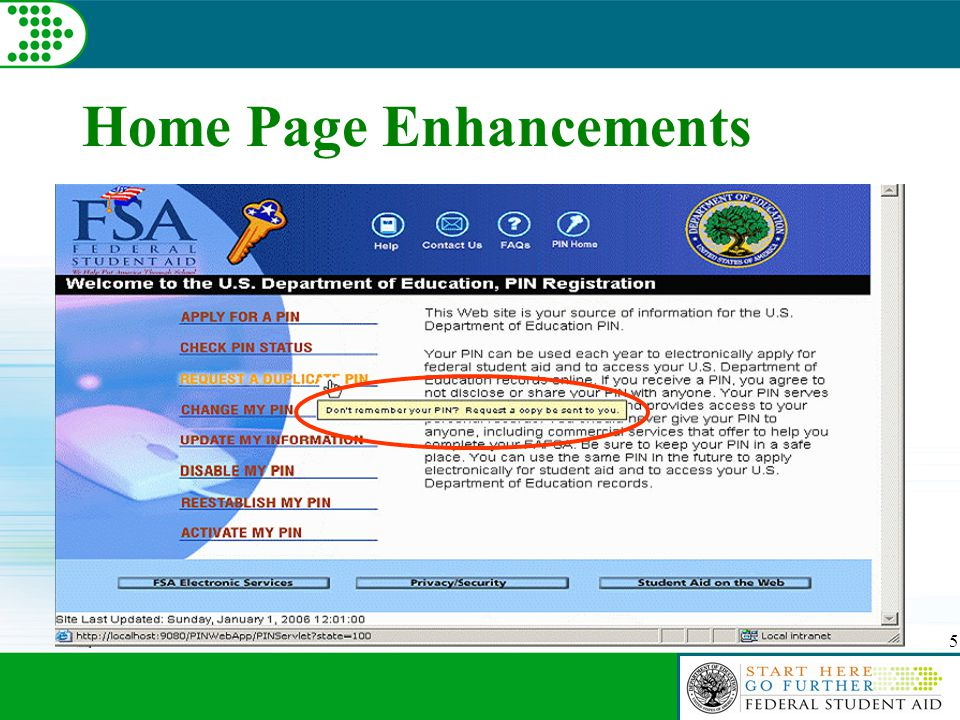 5 Home Page Enhancements