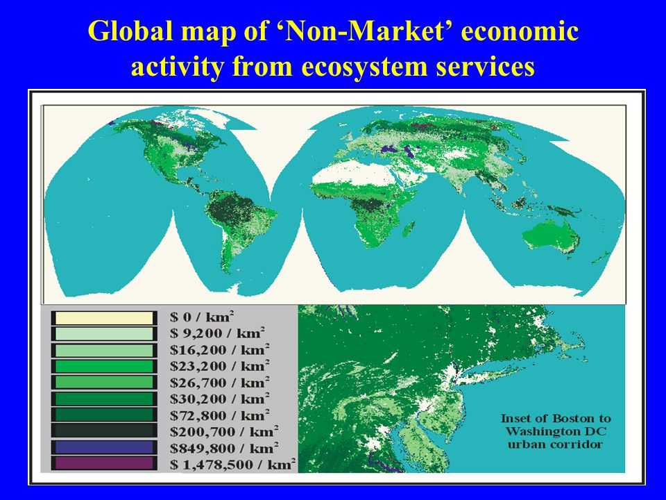 Global map of 'Non-Market' economic activity from ecosystem services