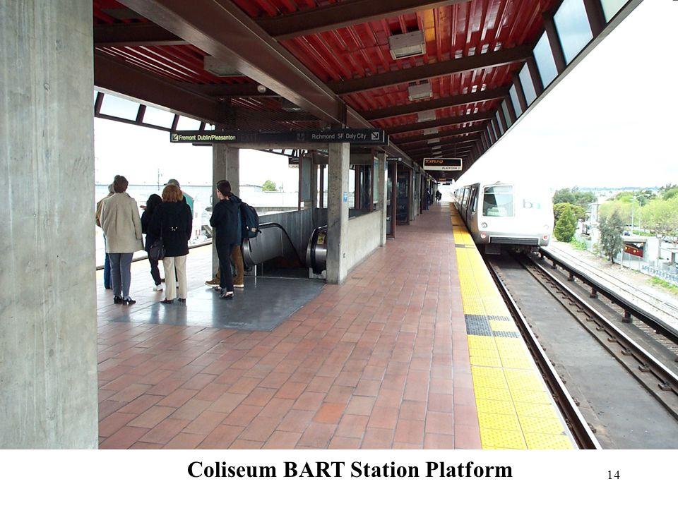 14 Coliseum BART Station Platform