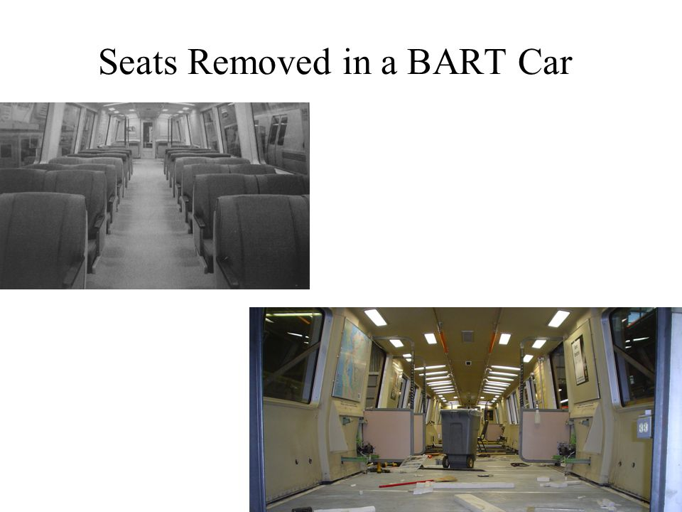 19 Seats Removed in a BART Car