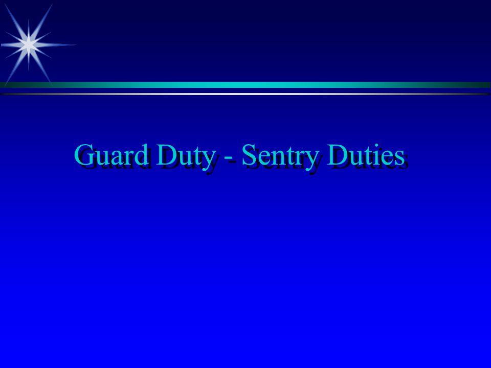 Guard Duty - Sentry Duties