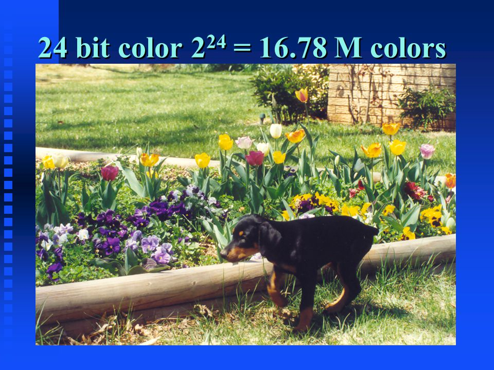 24 bit color 2 24 = 16.78 M colors