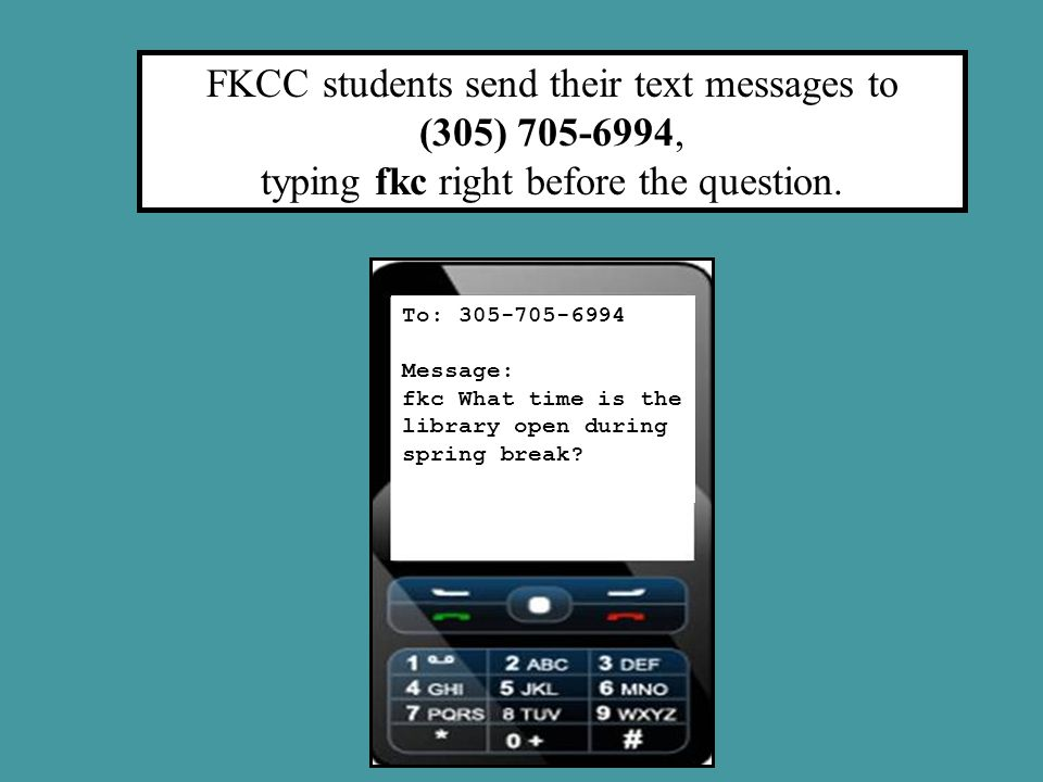 The fkc keyword causes Florida Keys Community College to display in the Agent Console.