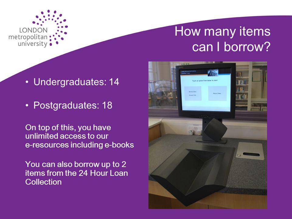 How many items can I borrow.