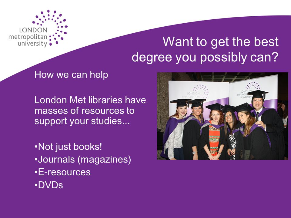 Want to get the best degree you possibly can.