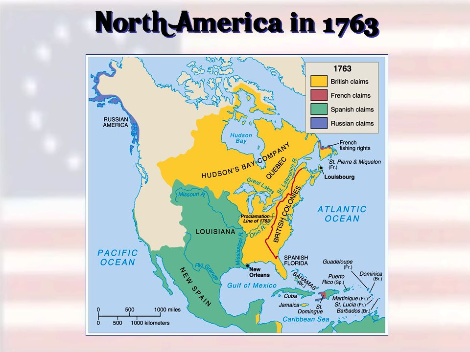 North America in 1763