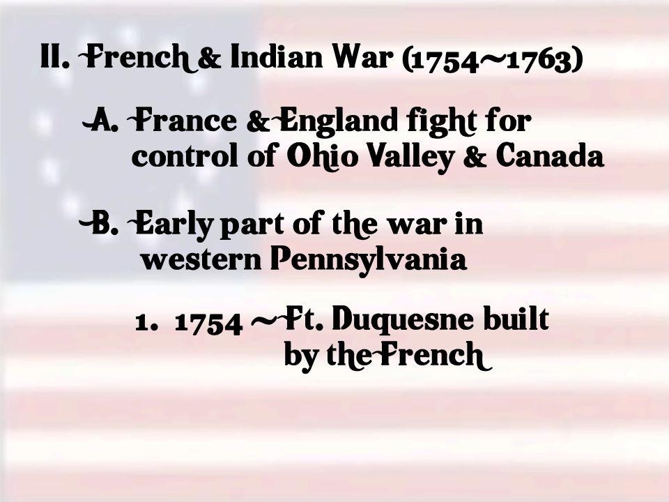 E.Pontiac ' s Rebellion (1763) 1. Tension along the frontier a.