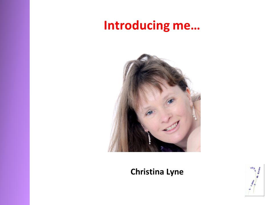 Introducing me… Christina Lyne