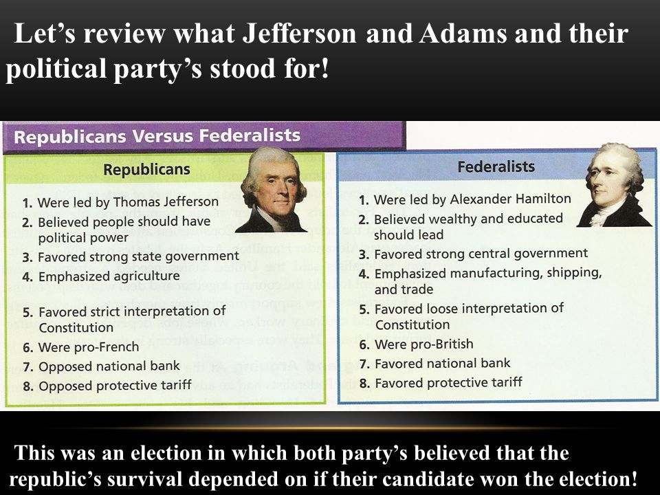This was an election in which both party's believed that the republic's survival depended on if their candidate won the election.