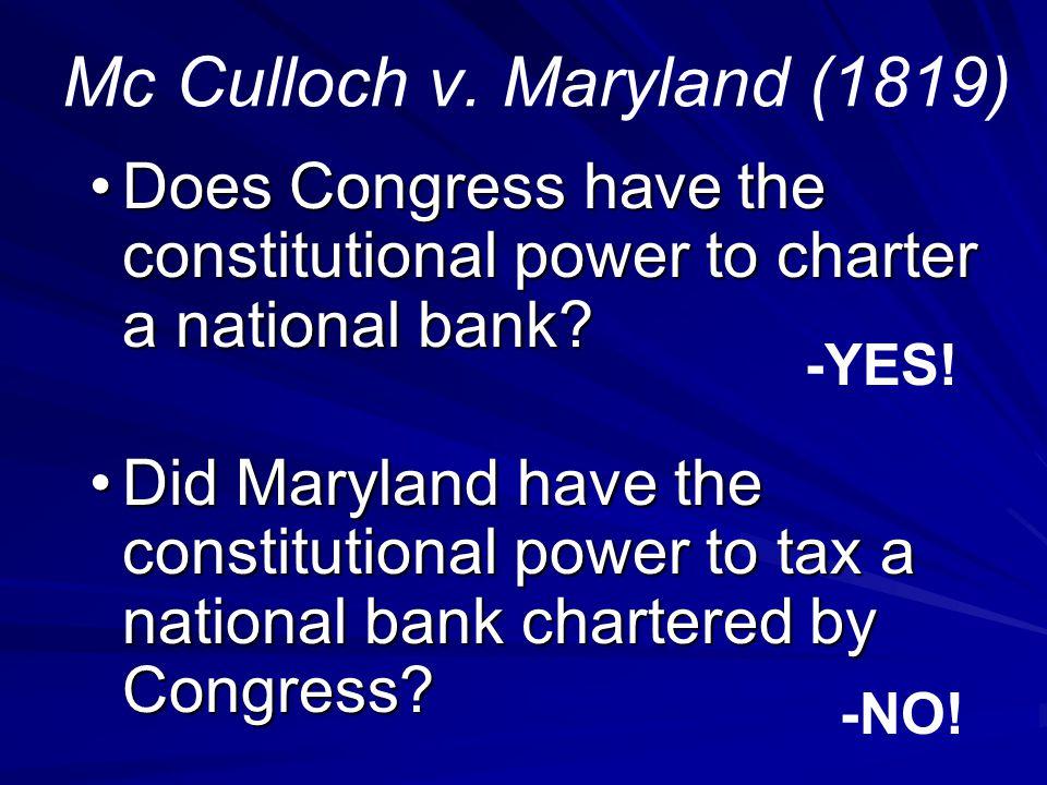Mc Culloch v.