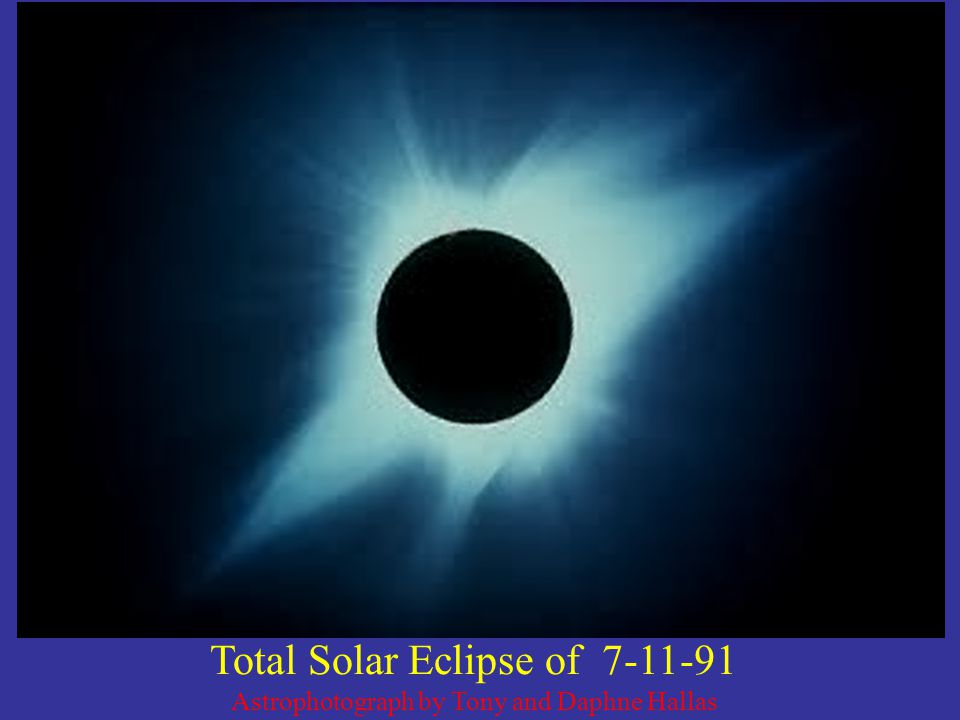 Total Solar Eclipse of 7-11-91 Astrophotograph by Tony and Daphne Hallas