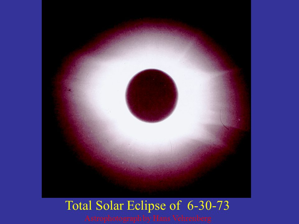 Total Solar Eclipse of 6-30-73 Astrophotograph by Hans Vehrenberg