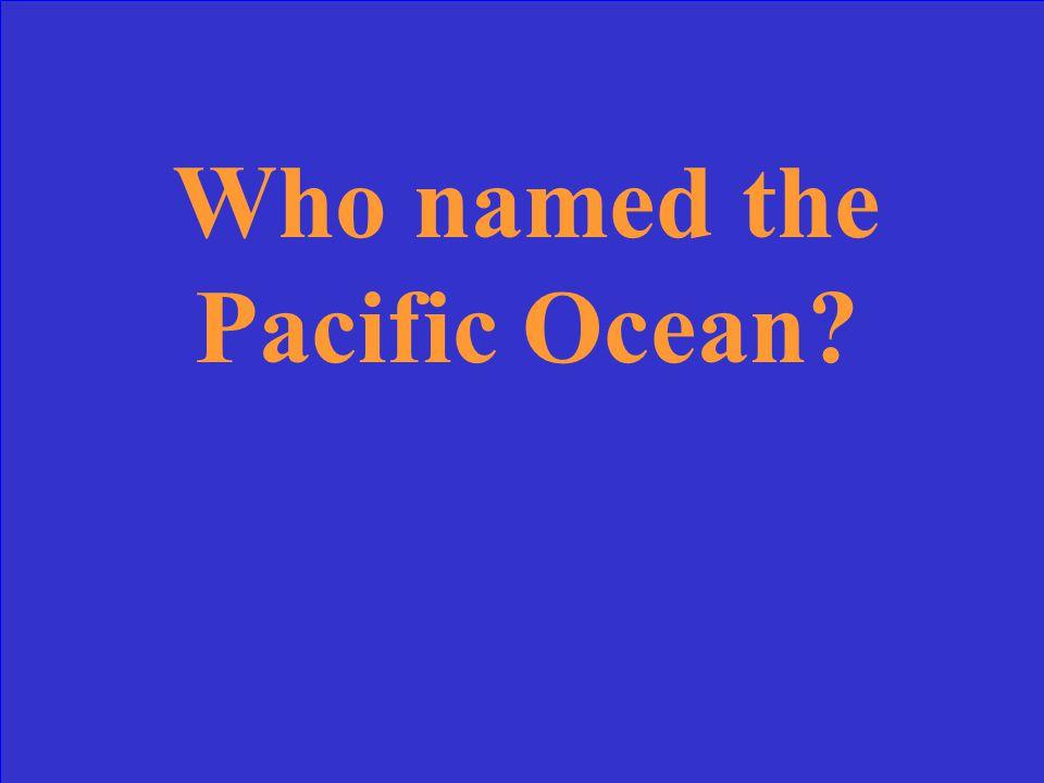 Numbers Ocean Life Sediments & The Ocean Floor 10 Point 20 Points 30 Points 40 Points 50 Points 10 Point 20 Points 30 Points 40 Points 50 Points 30 Points 40 Points 50 Points Geography & Geology History & Oceans