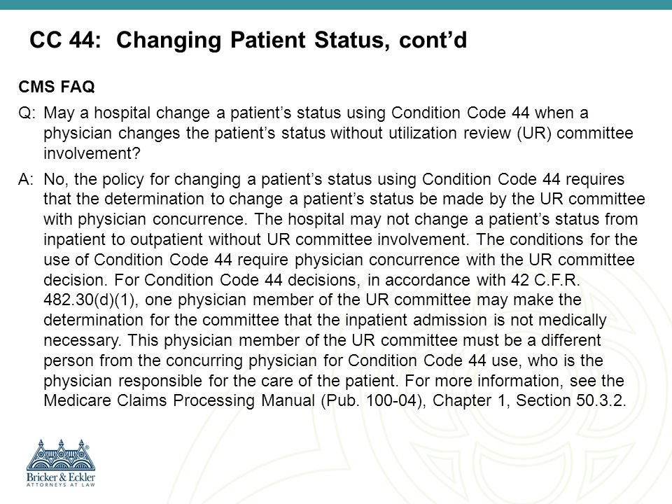 Option to Submit a Part B Inpatient Bill- For Admissions prior to October 1, 2013 CMS RULING 1455-R Historically, CMS took the position that if a hospital's Part A claim for inpatient admission was denied, the hospital was not permitted to bill an outpatient cliam and could only submit a Part B inpatient claim (Bill Type 121) for certain limited diagnostic services.