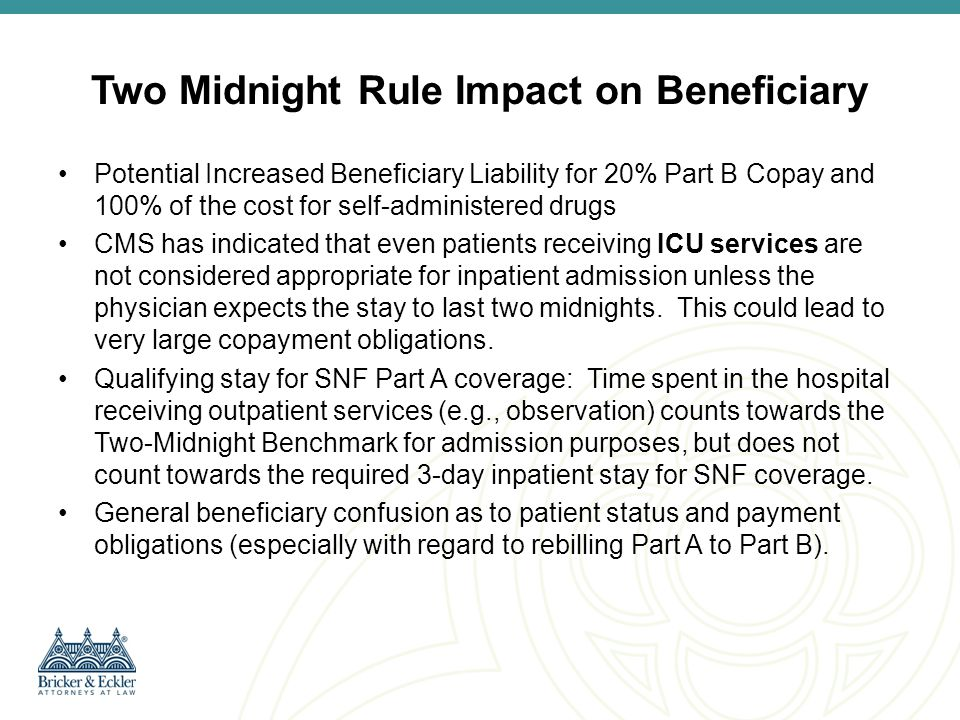 Impact on Beneficiaries: Co-Insurance and Deductibles Any Co-Insurance or Deductible collected for the Part A claim must be refunded to the beneficiary.