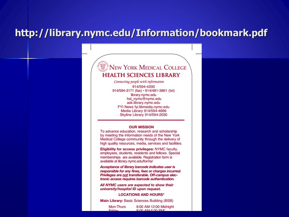 http://library.nymc.edu/Information/bookmark.pdf