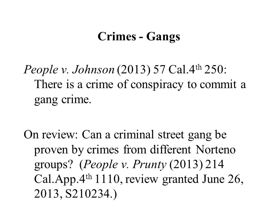 Crimes - Gangs People v.