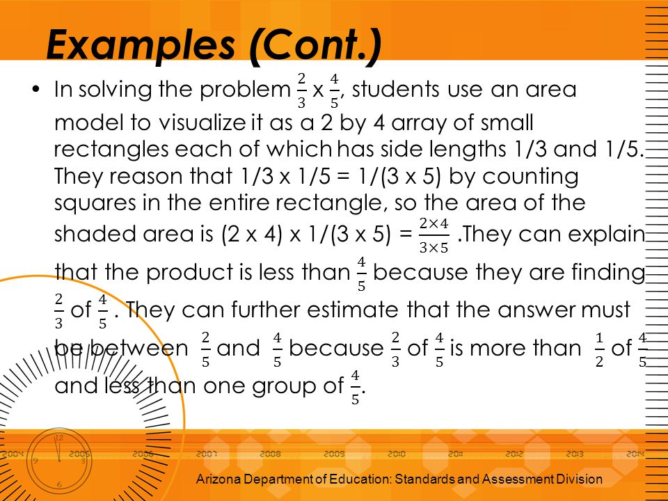 Arizona Department of Education: Standards and Assessment Division