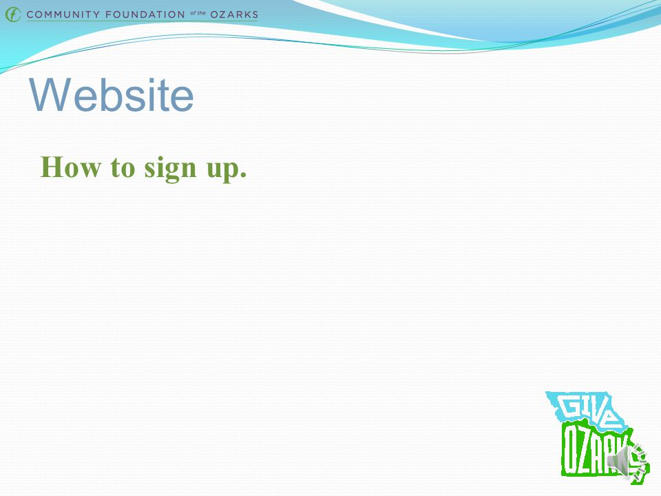 Website How to sign up.