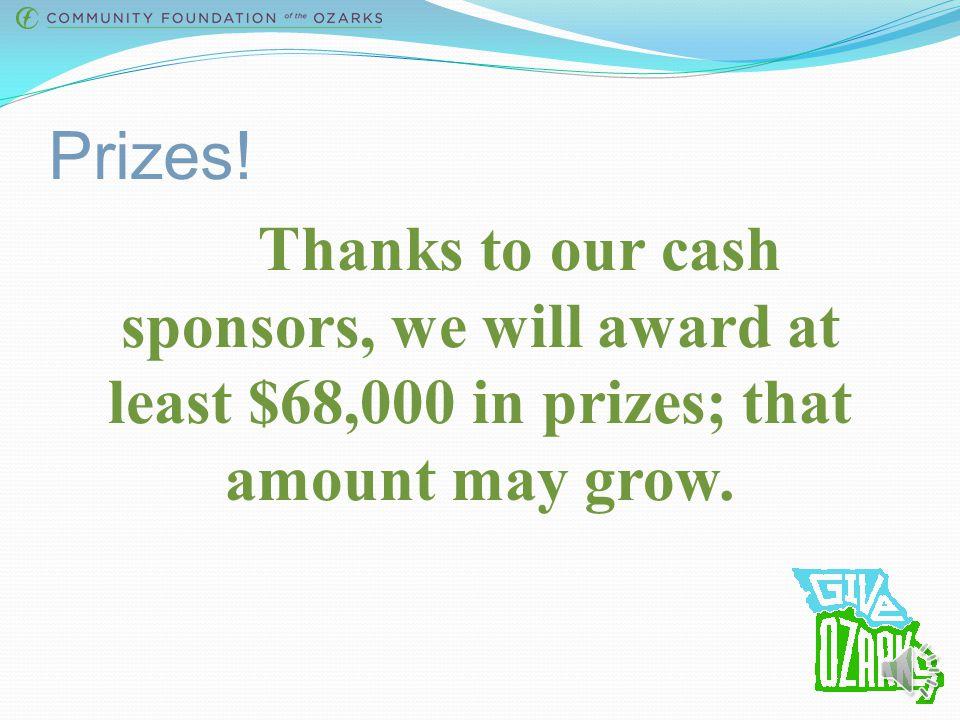 Give Ozarks Sponsors Silver Sponsors: Bronze Sponsors: