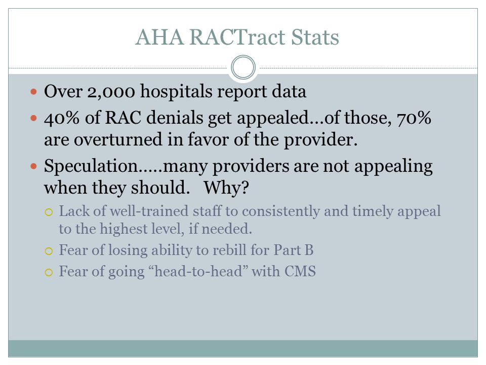 THR RAC Appeal Results??.