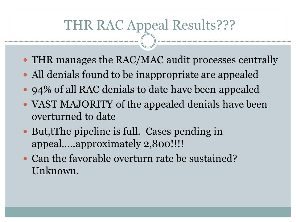 THR RAC Appeal Results .
