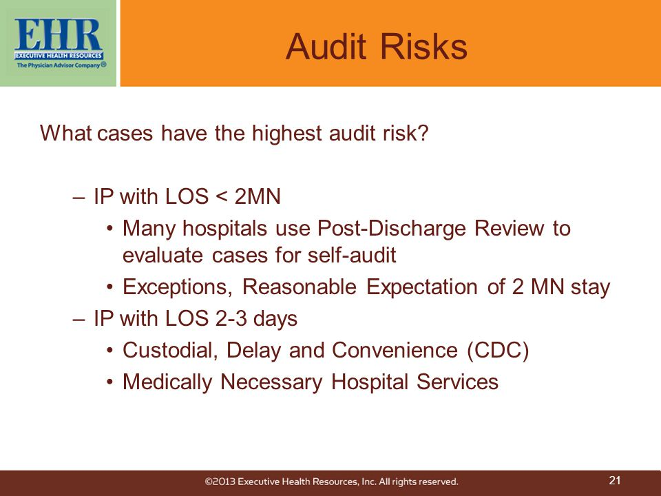 Audit Risks What cases have the highest audit risk.
