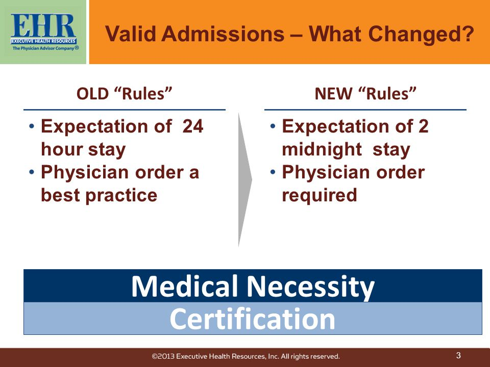 3 Valid Admissions – What Changed.