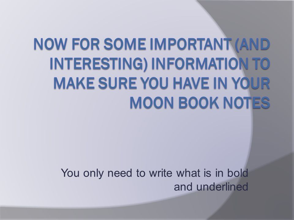 You only need to write what is in bold and underlined